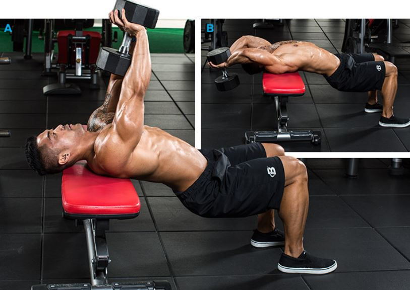 chest n triceps workout - 768×480