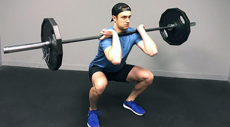 front squats 1