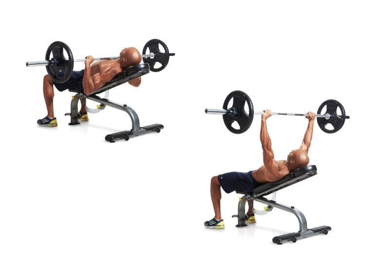 incline bench press workout