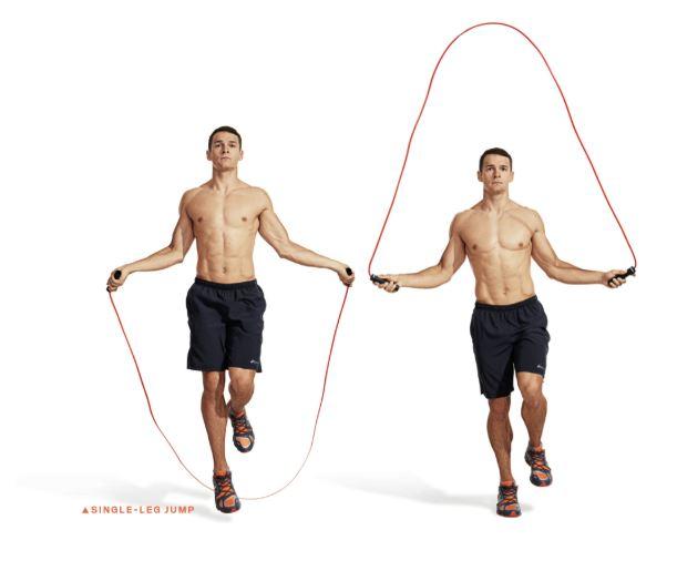 single leg jump rope