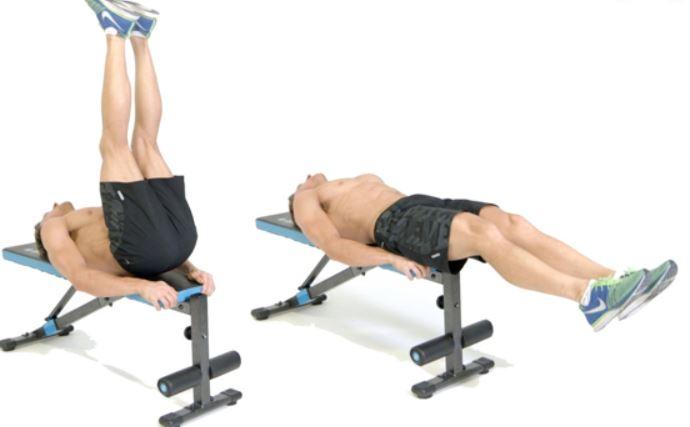 flat bench leg raise1