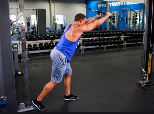 overhead cable triceps