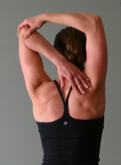 overhead triceps and shoulder stretch