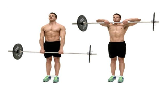 upright row barbell