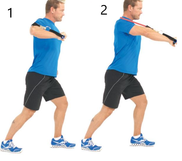decline chest press with bands back