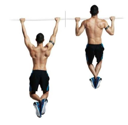 Wide grip pullups