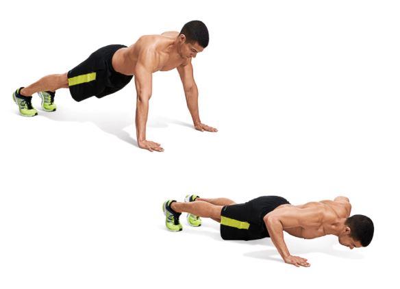 Wide pushups