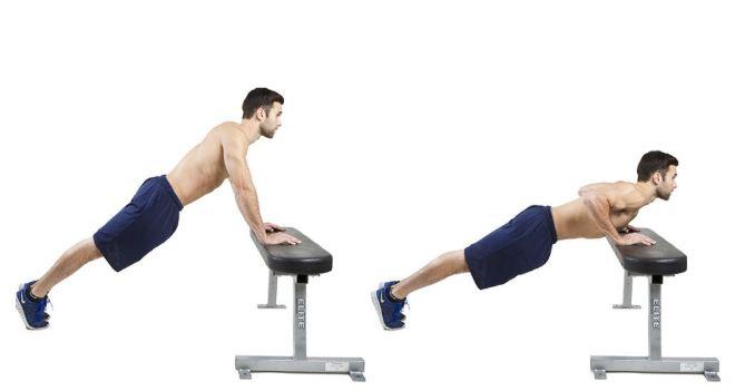 wide grip incline pushups