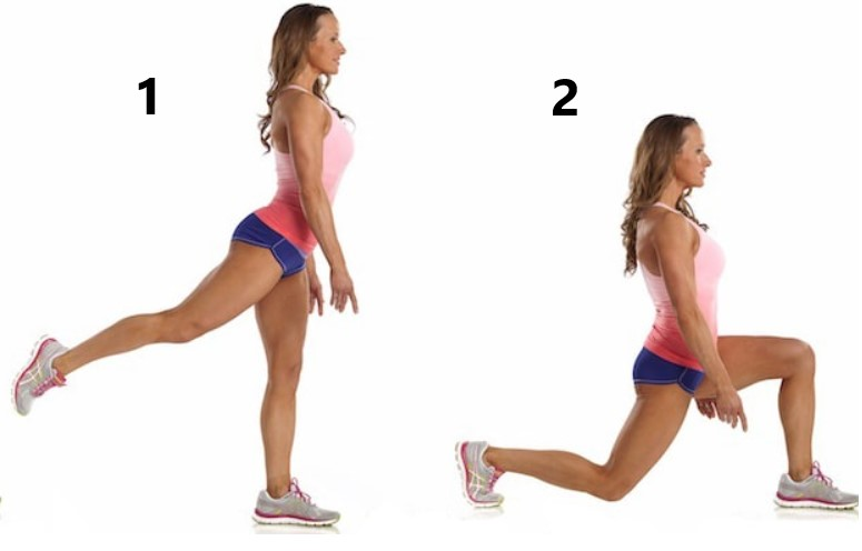 Standing Kickback Lunges