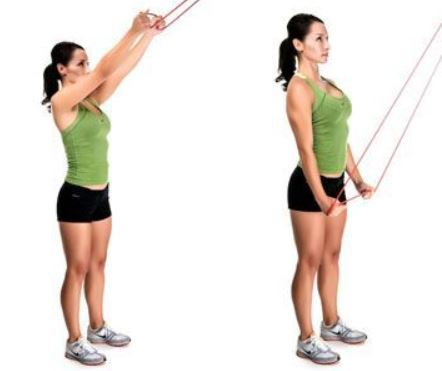 banded lat pull down