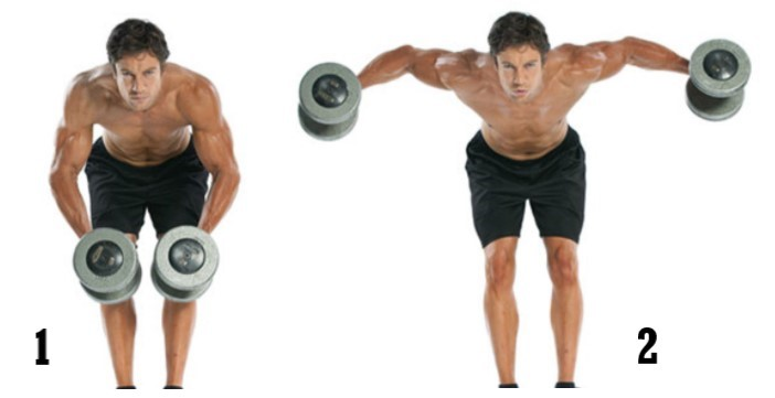 Standing Bent Over Lateral Raise