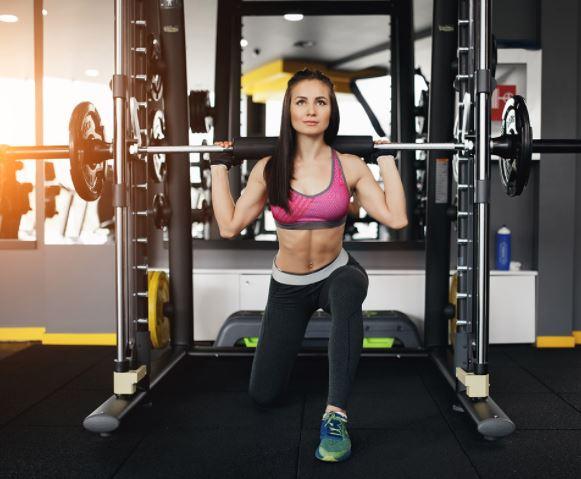 Split squat smith machine