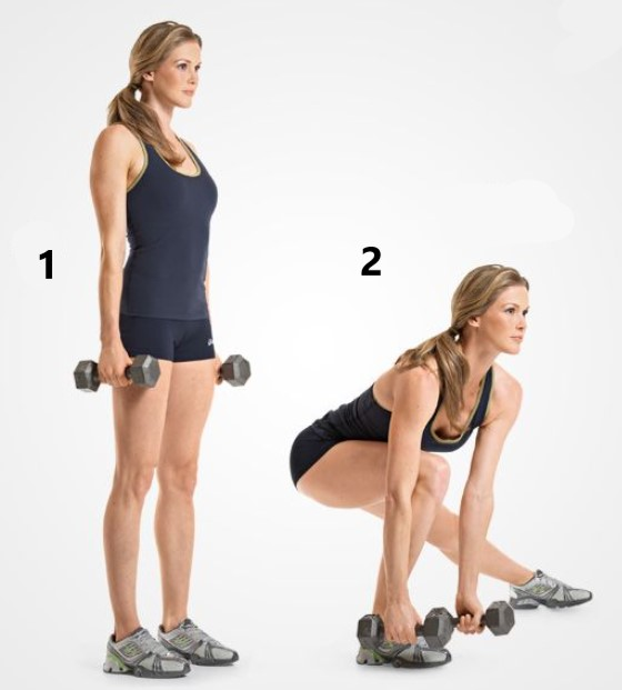 side lunges with dumbbells