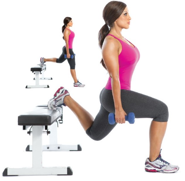 split leg squats