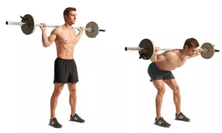 good morning exercise barbell