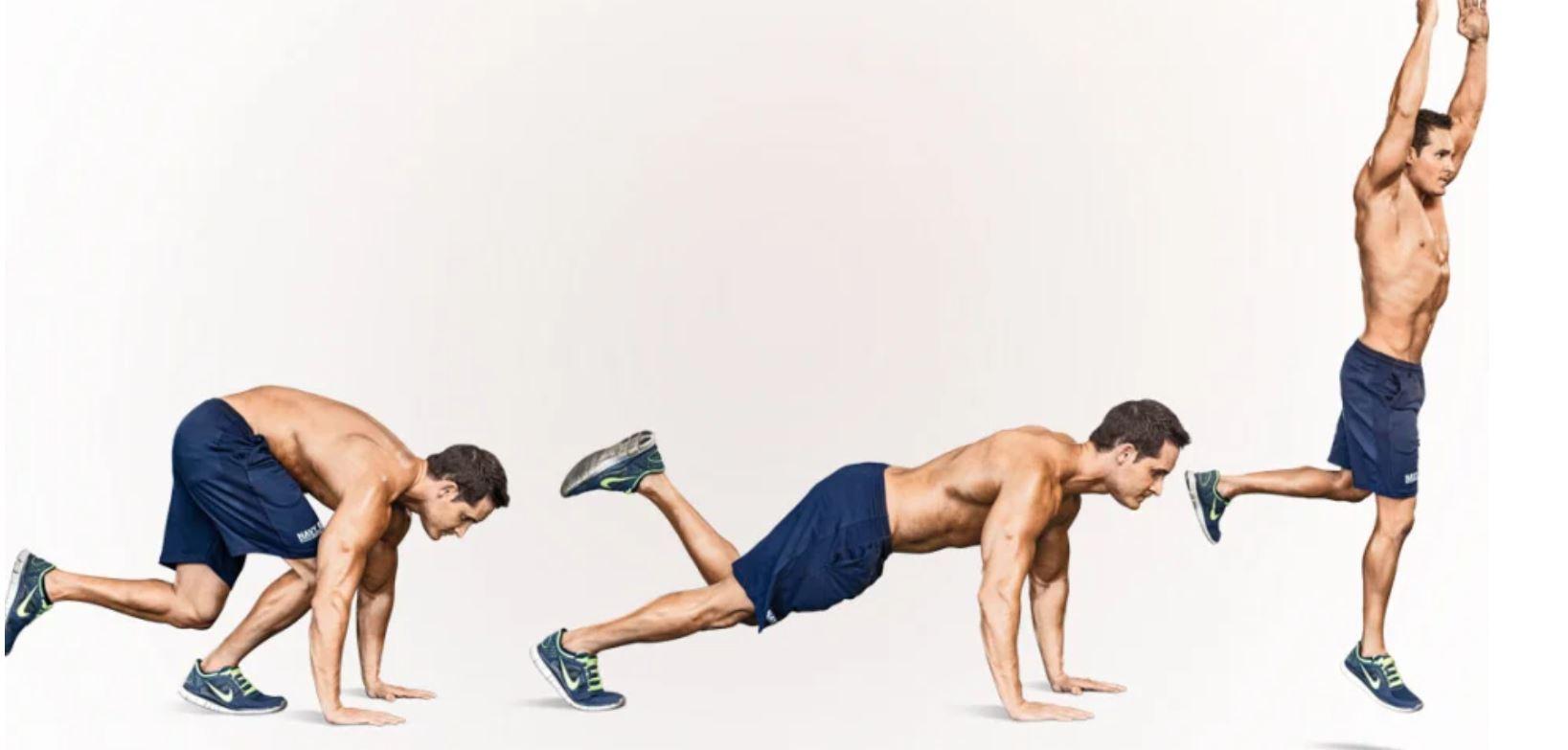 single leg burpee workout
